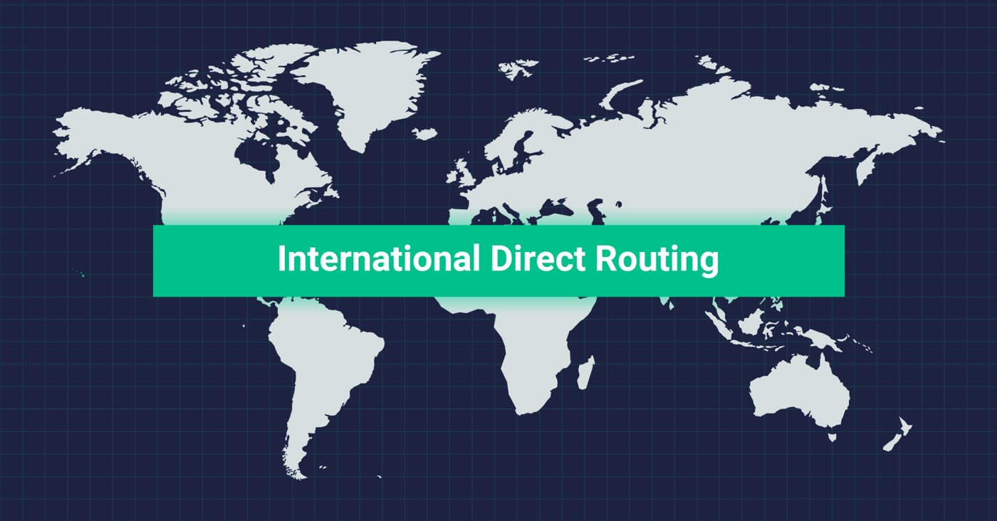 International direct routing banner graphic