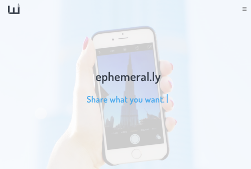Ephemeral.ly header screenshot