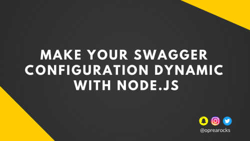 make your swagger configuration dynamic using nodejs