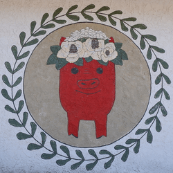 thumbnail of Distinctive Dwelling Pig Mural