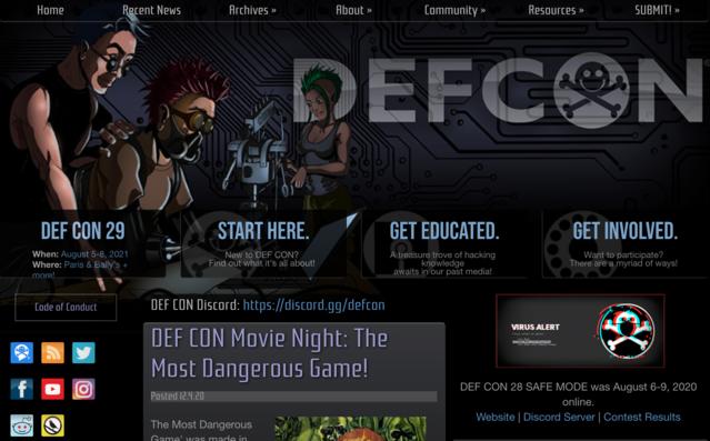 DEF CONの公式Webサイト