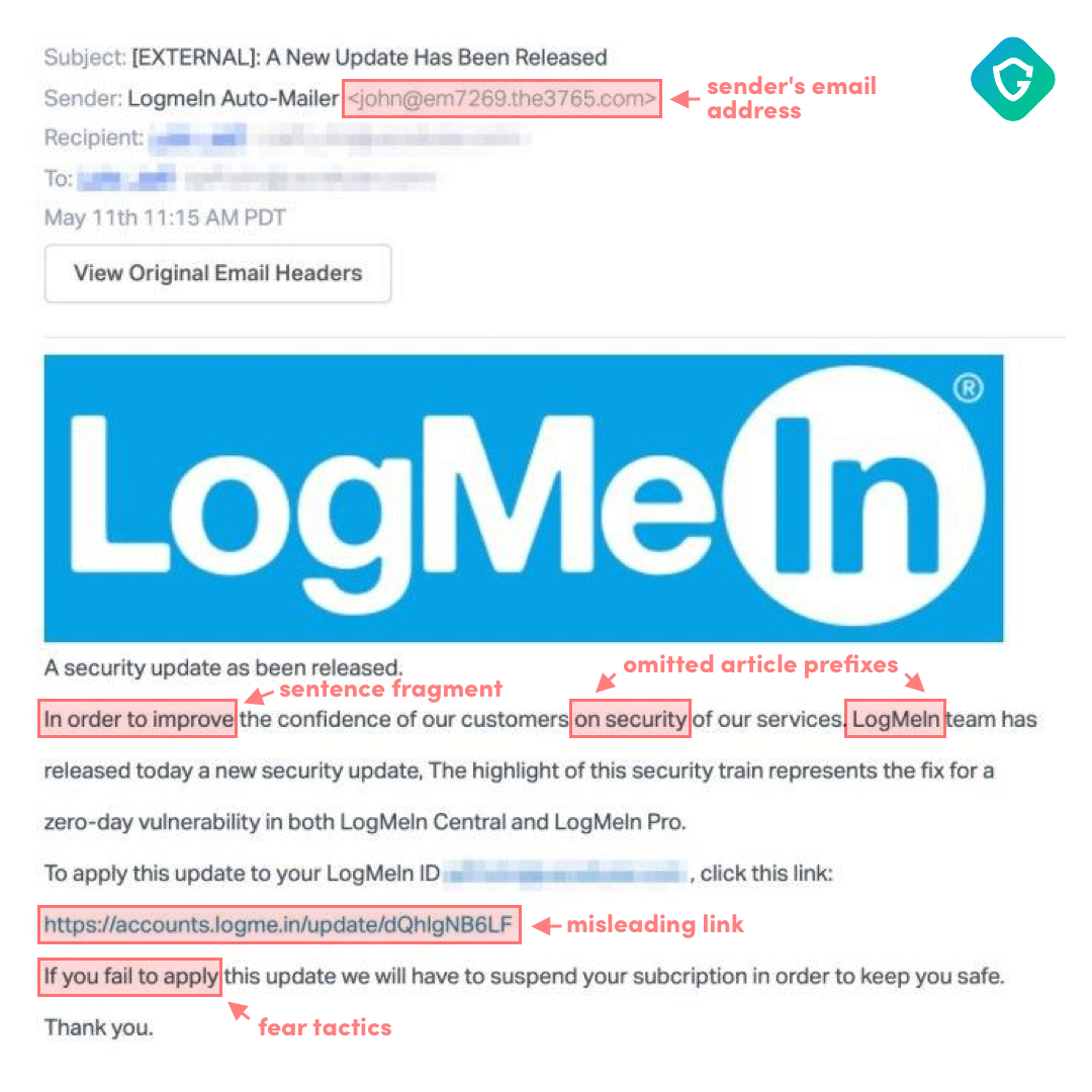 Logmein email