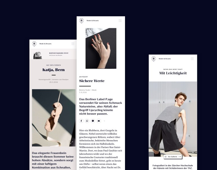 NZZ Article Formats