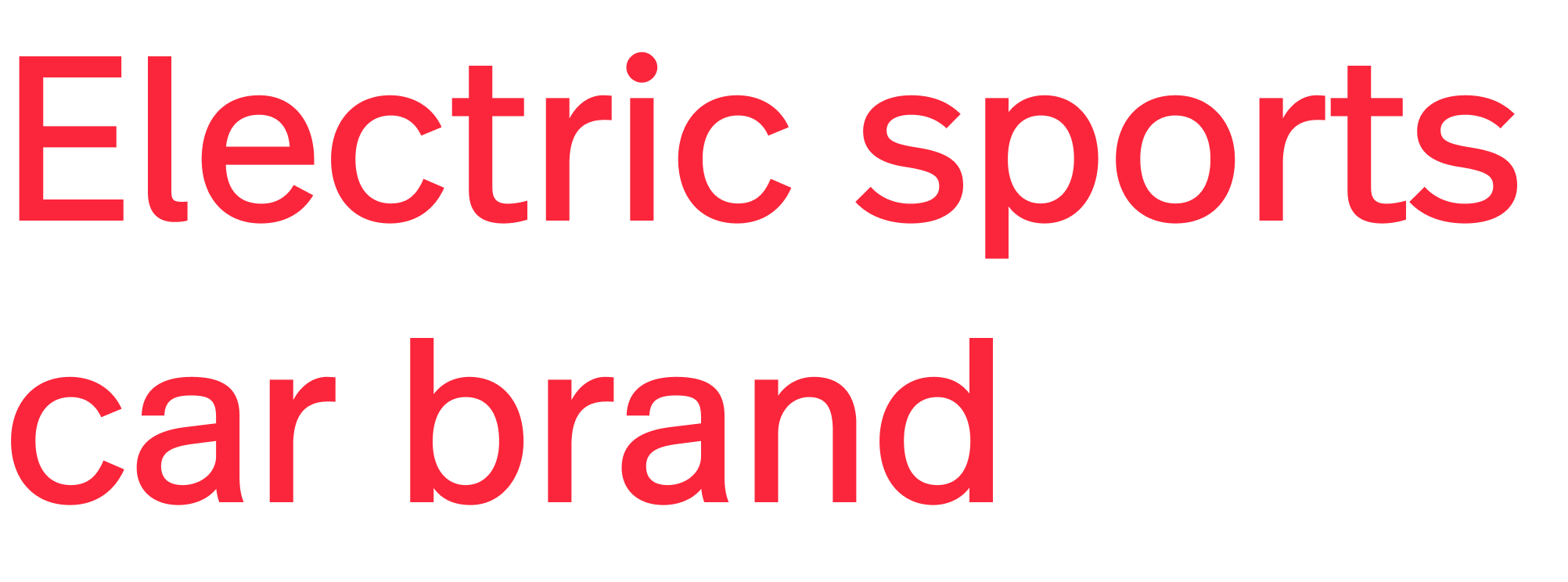 Electric sports car brand Logo