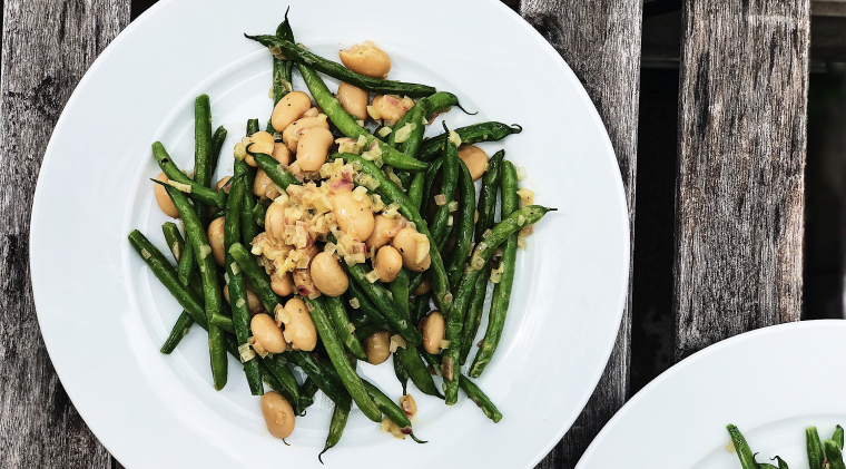 This green beans recipe is heavily inspired from Jenné Claiborne's cookbook Sweet Potato Soul