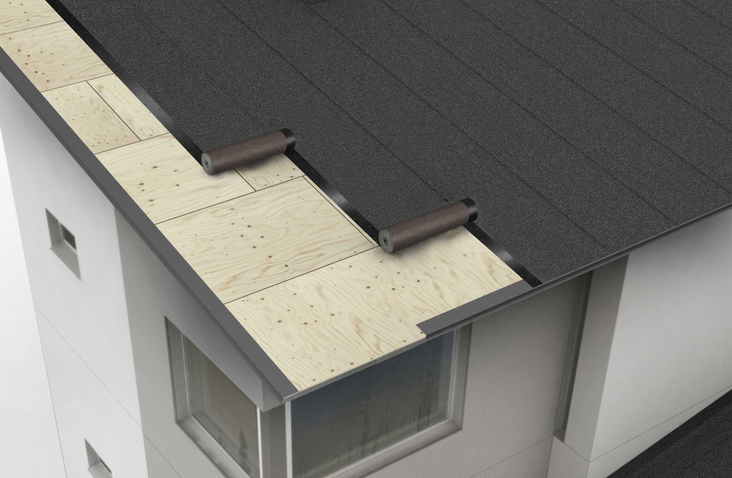 IMG - TopSafe Uni tiivissaumakate kattohuopa havainnerenderöinti rakenteesta - 2500px / 1635px