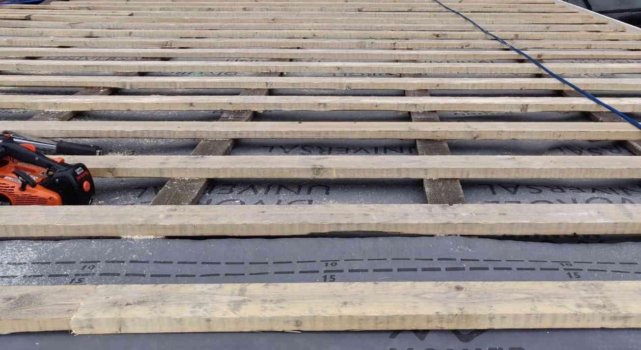 IMG - Divoroll aluskate katolla asennettuna tiiliruoteiden alle - 1305px / 712px