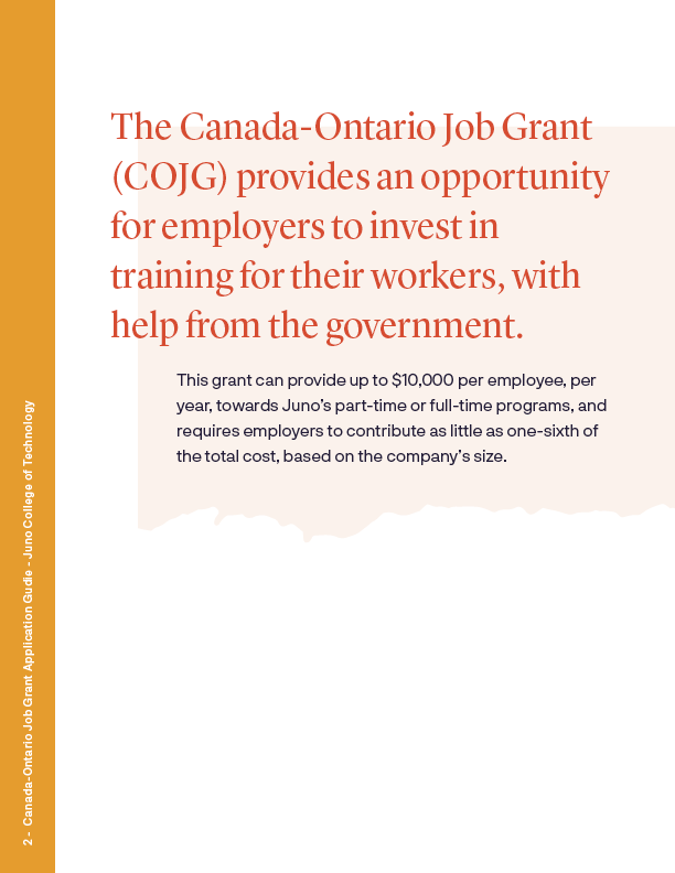 Canada-Ontario Job Application Grant Guide