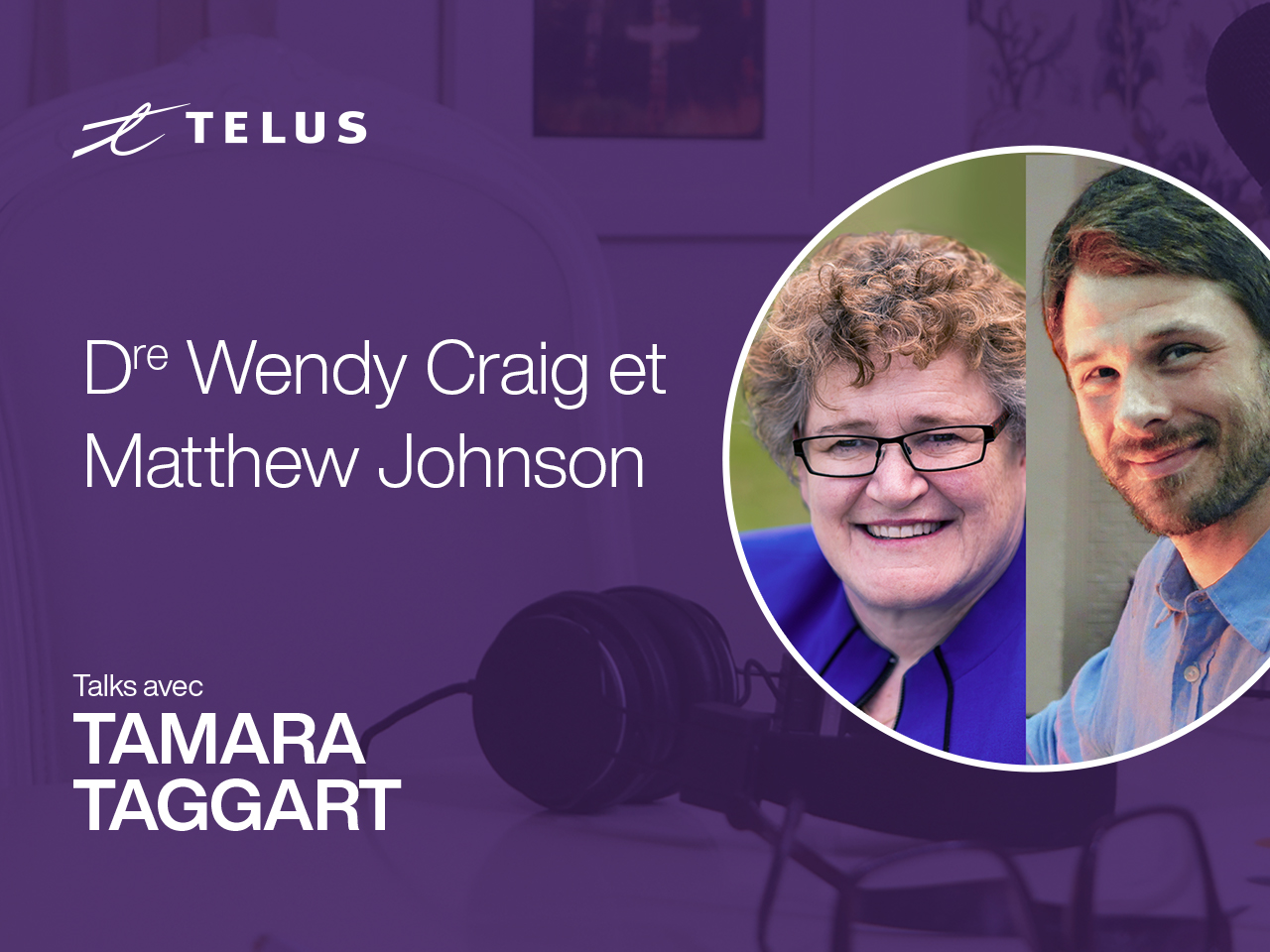 Dr. Wendy Craig, head of Psychology at Queen's university, and Matthew Johnson, Director of Education at MediaSmarts