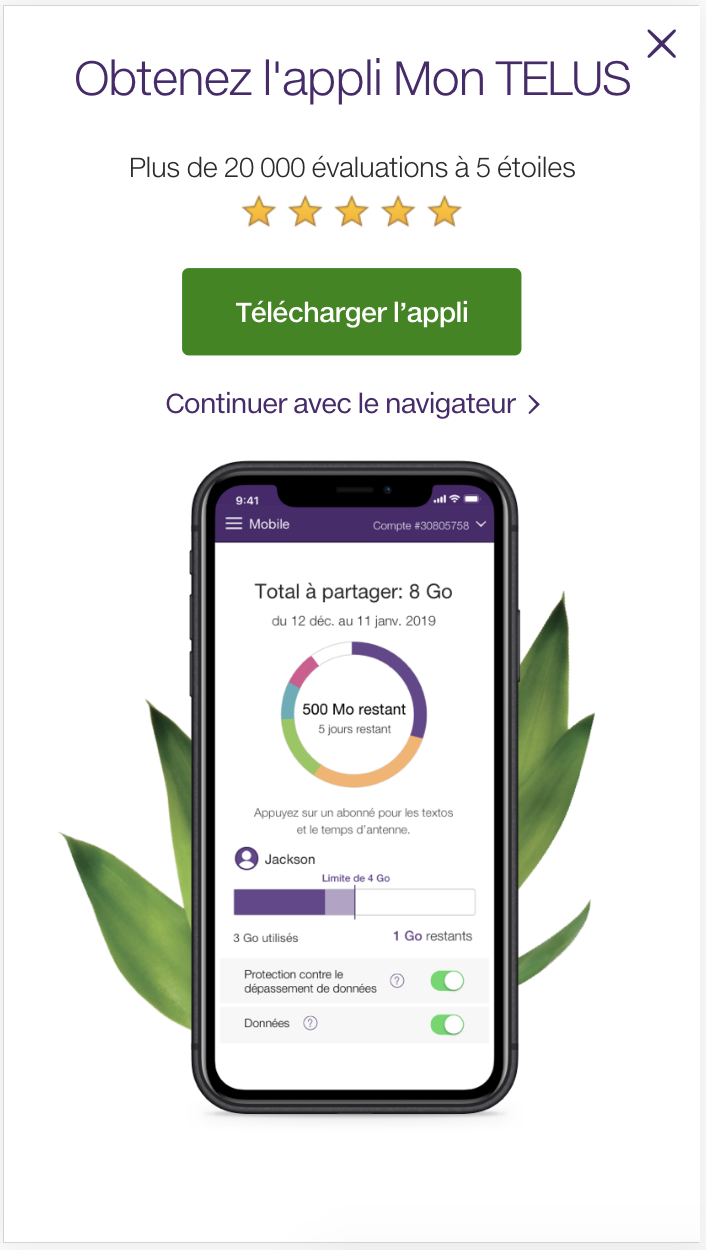 Mobile application MyTELUS
