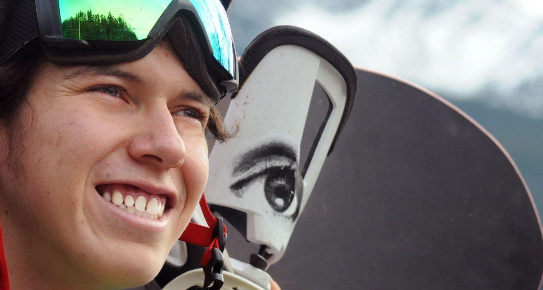 Dakota Williams with snow gear smiling
