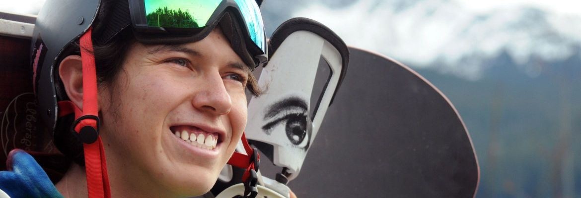 Dakota Williams with snow gear smiling