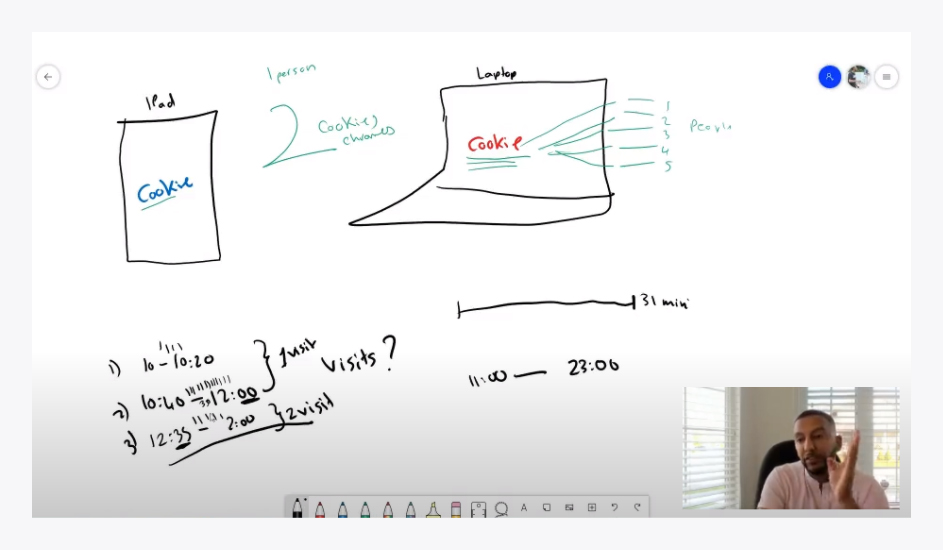 A screenshot from a Junior Analytics Development Experience (JADE) learning session.