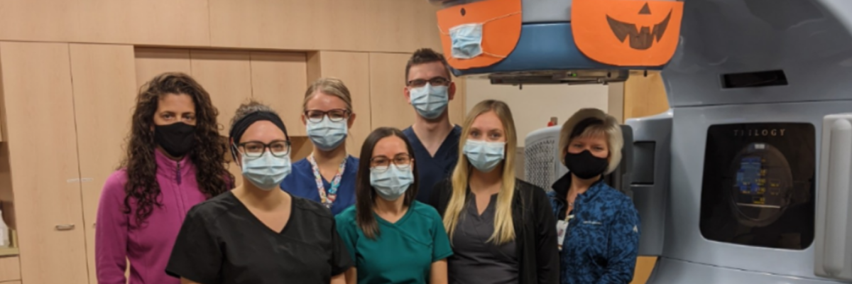 Group of hospital workers wearing masks