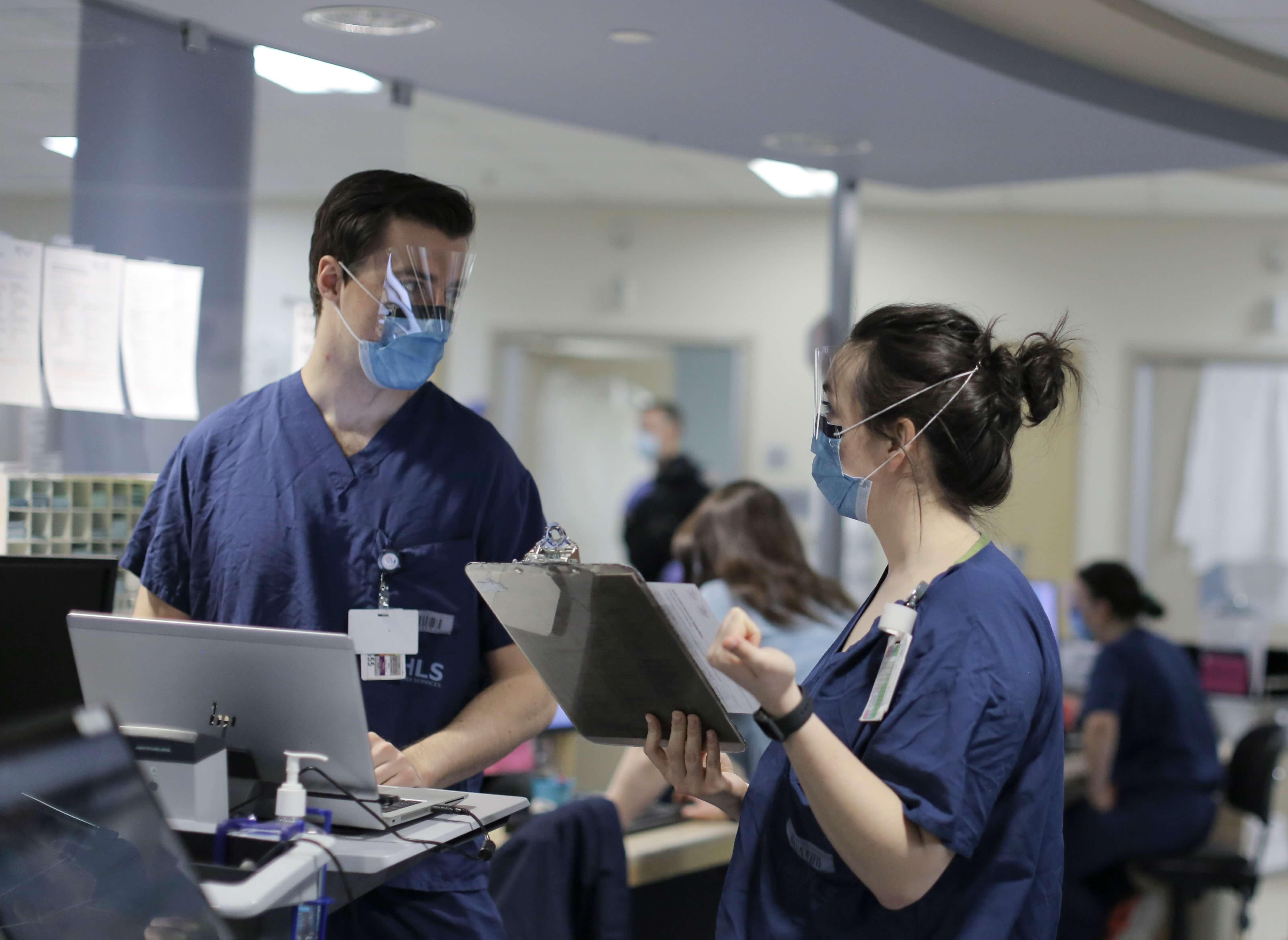 Two nurses at Ottawa's Queensway Carleton Hospital Foundation
