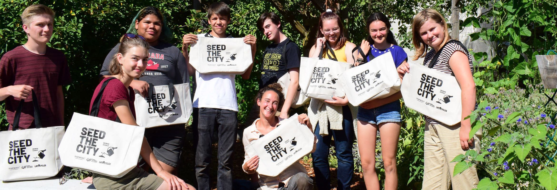 A group of Seed the City student volunteers