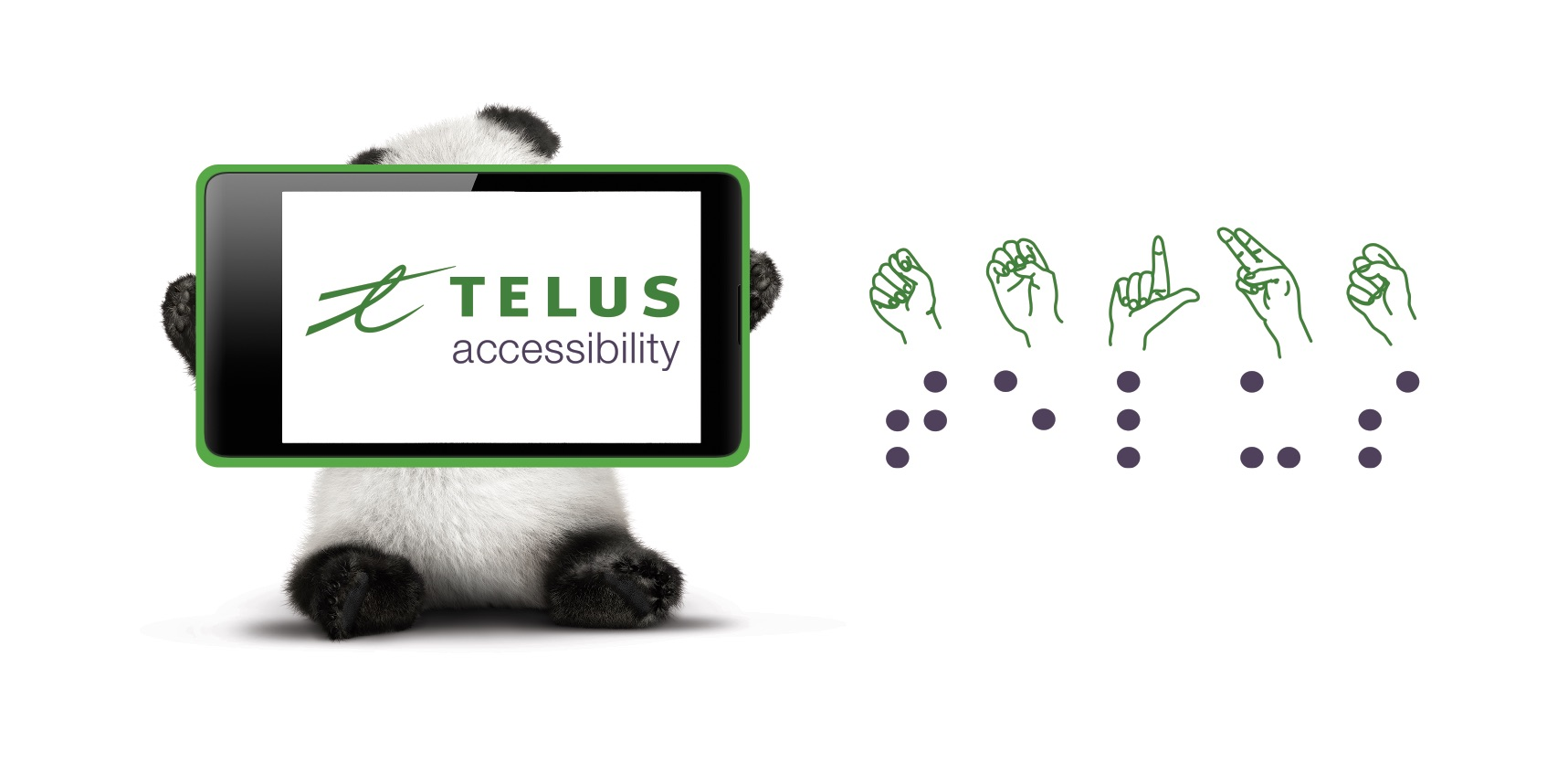 TELUS Accessibility Sticker EN landscape