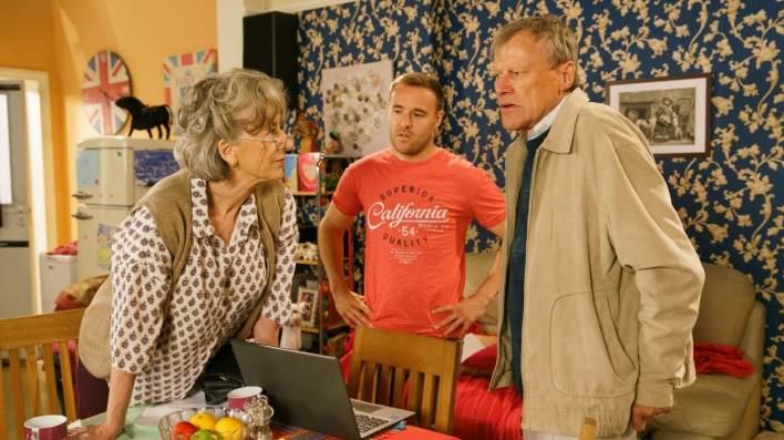 Evelyn, Roy and Tyrone - Coronation Street - ITV