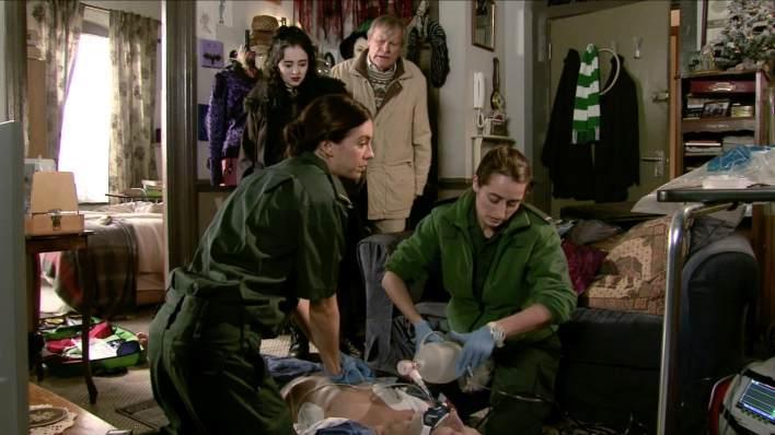 Nina, Roy, the paramedics and Richard