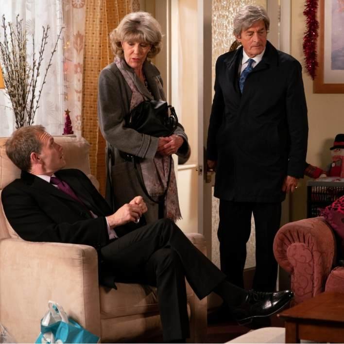 Nick, Audrey and Lewis - Coronation Street - ITV