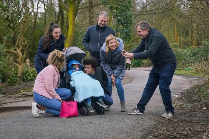 Leanne, Steve, Nick, Oliver, Emma, Amy and Simon - Coronation Street - ITV