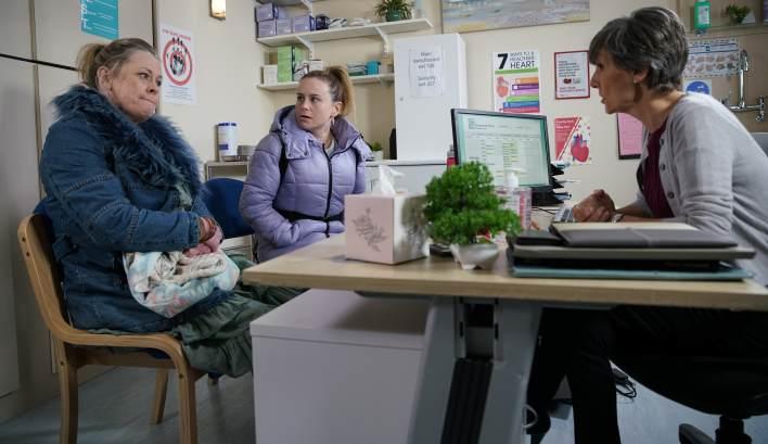 Gemma, Bernie and Doctor Gaddas - Coronation Street - ITV