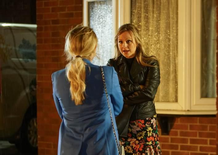 Bethany and Sarah outside the Platt's house - Coronation Street - ITV