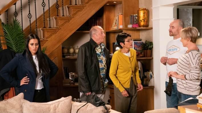 Alya, Geoff, Yasmeen, Tim and Sally - Coronation Street - ITV
