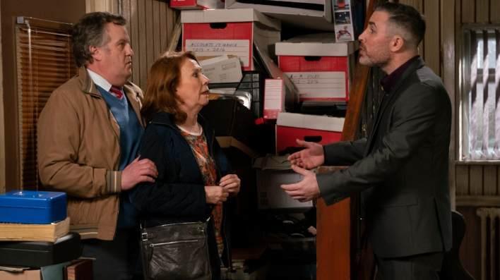 Cathy, Brian and Rick - Coronation Street - ITV