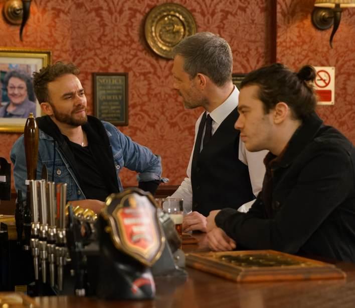 David, Seb and Nick - Coronation Street - ITV