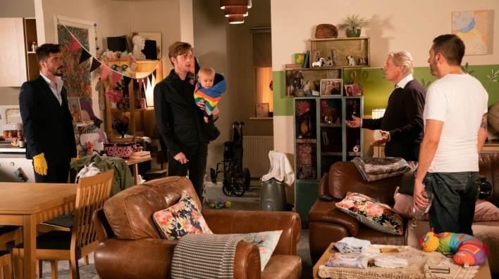 Adam, Daniel, Bertie, Ken and Peter - Coronation Street - ITV