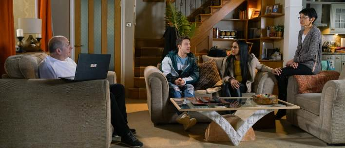 Geoff, Alya, Yasmeen and Ryan - Coronation Street - ITV
