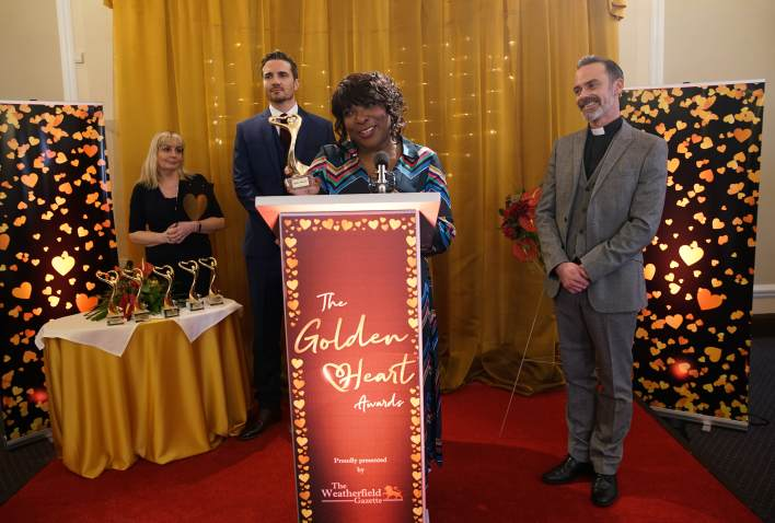 Aggie accepting his award - Coronation Street - ITV