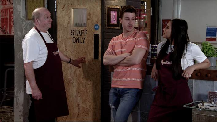 Geoff, Alya and Ryan - Coronation Street - ITV