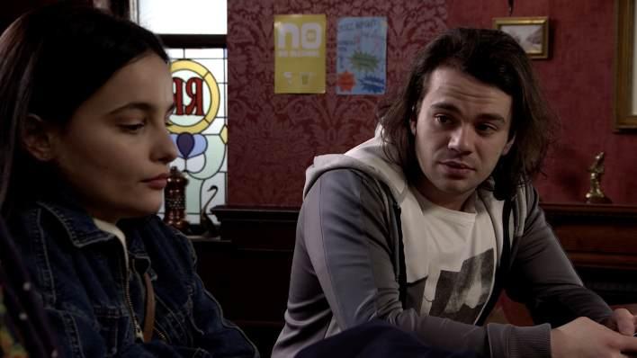 Alina and Seb in the Rovers - Coronation Street - ITV