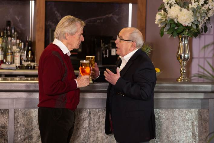 Ken and Norris at Stillwaters - Coronation Street - ITV