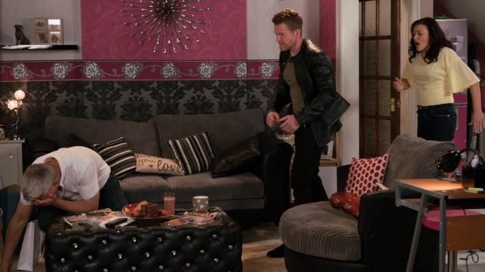 Robert, Vicky and Jed - Coronation Street - ITV