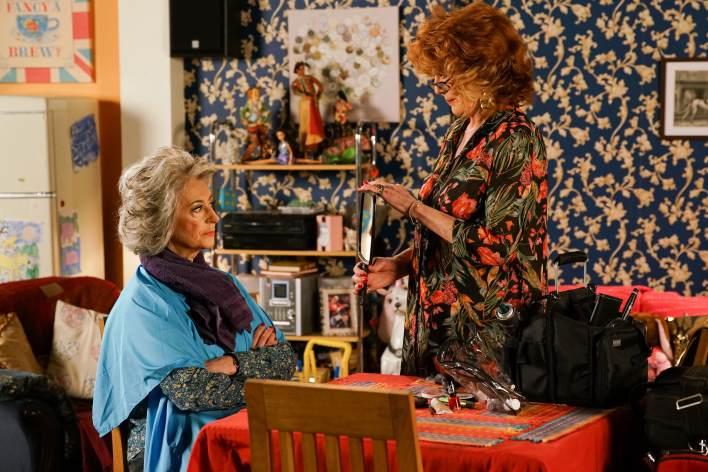 Claudia and Evelyn - Coronation Street - ITV
