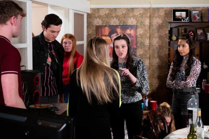 Corey, Amy, Kelly and Asha - Coronation Street - ITV