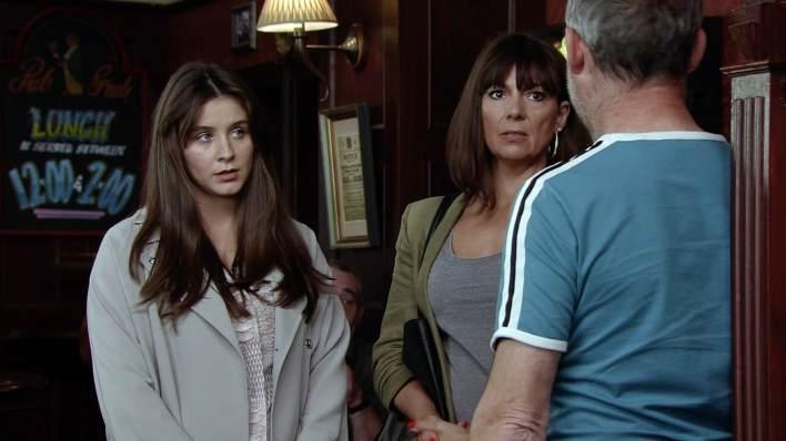 Sophie, Paula and Kevin - Coronation Street - ITV