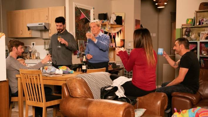 Daniel, Bertie, Adam, Ken, Carla and Peter - Coronation Street - ITV