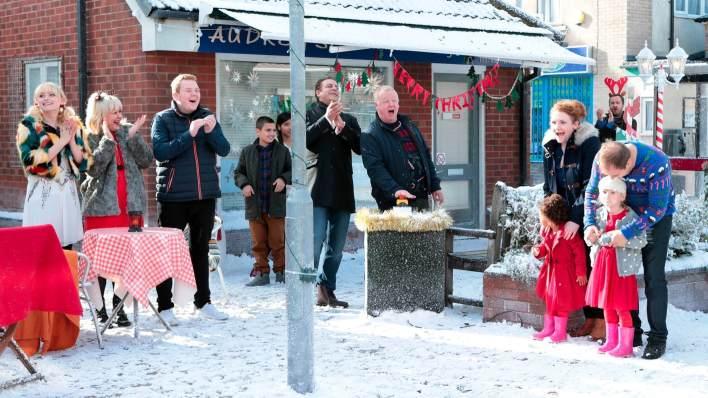 Christmas Lights Switch On - Coronation Street - ITV