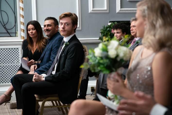 Daniel and Bethany at Sarah and Adam's wedding - Coronation Street - ITV