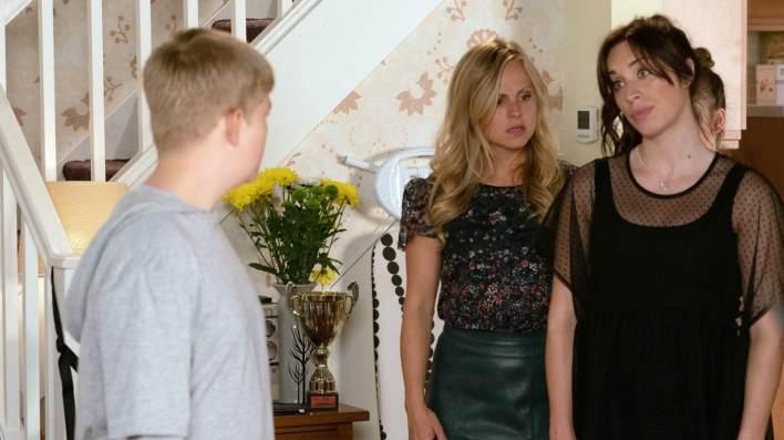 Max, Sarah and Shona - Coronation Street - ITV