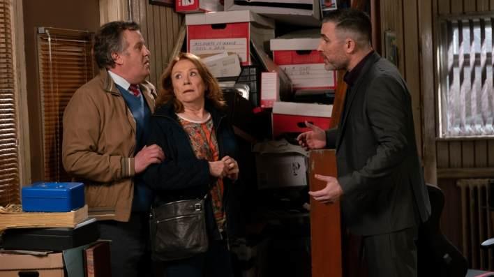 Brian, Cathy and Rick - Coronation Street - ITV