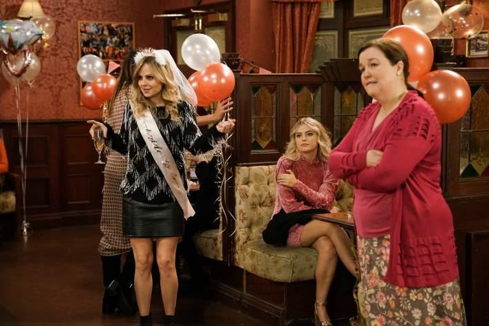 Sarah, Bethany and Mary in the Rovers - Coronation Street - ITV
