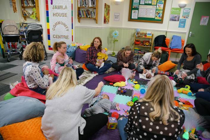 Gemma, Cathy and the quads at a mum and baby class - Coronation Street - ITV