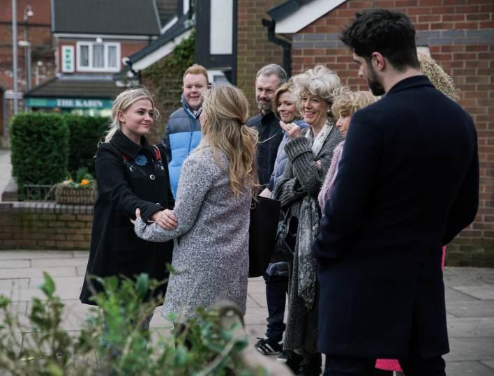 Sarah, Bethany, Adam, Craig, Nick, Leanne, Audrey, Gail and Emma - Coronation Street - ITV