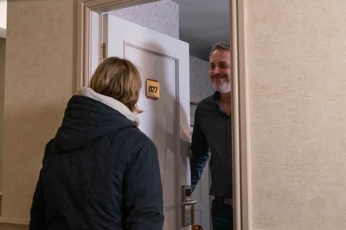 Abi and Ray at a hotel - Coronation Street - ITV