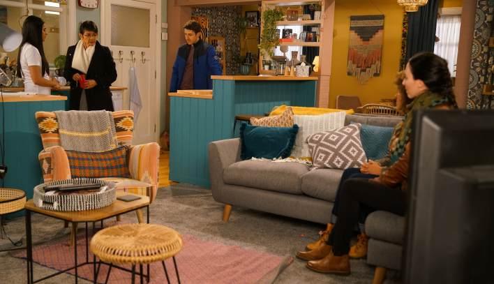 Alya, Yasmeen, Ryan and the police - Coronation Street - ITV